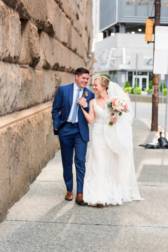 Fresh Navy & Peach Wedding from Leeann Marie, Wedding Photographers featured on Burgh Brides