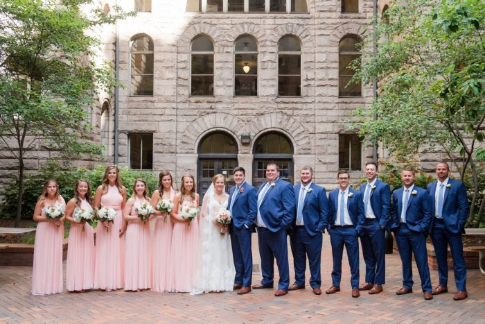 Peach and Navy Bridesmaids Dresses: Fresh Navy & Peach Wedding from Leeann Marie, Wedding Photographers featured on Burgh Brides