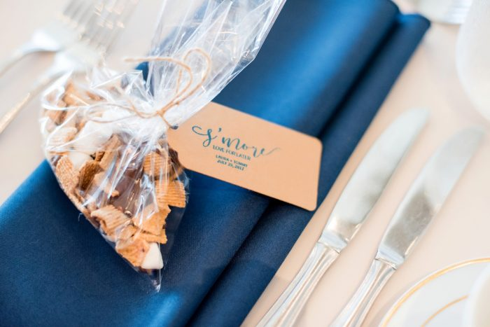 Smores Wedding Favors: Fresh Navy & Peach Wedding from Leeann Marie, Wedding Photographers featured on Burgh Brides
