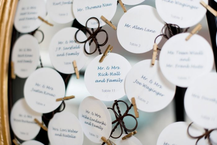 Wedding Escort Cards Seating Display: Fresh Navy & Peach Wedding from Leeann Marie, Wedding Photographers featured on Burgh Brides