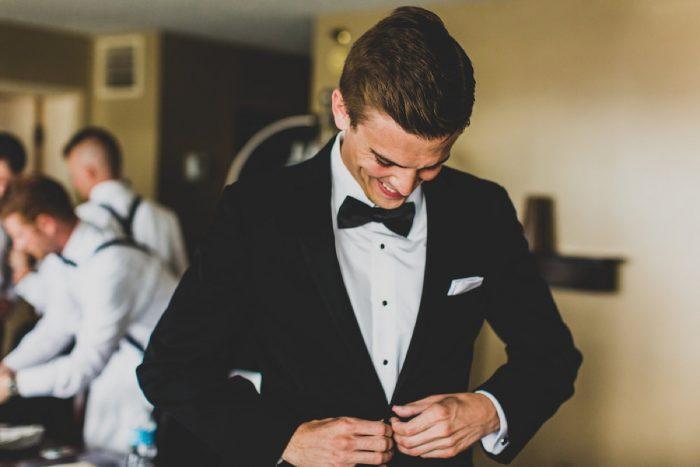 Black Tuxedo Clad Groom: Modern Chic Wedding from Ryan Zarichnak Photography Featured on Burgh Brides