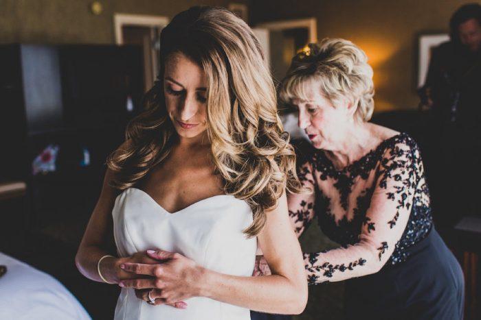 Wedding Hair Down: Modern Chic Wedding from Ryan Zarichnak Photography Featured on Burgh Brides