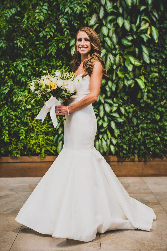 Mermaid Satin Wedding Dress: Modern Chic Wedding from Ryan Zarichnak Photography Featured on Burgh Brides