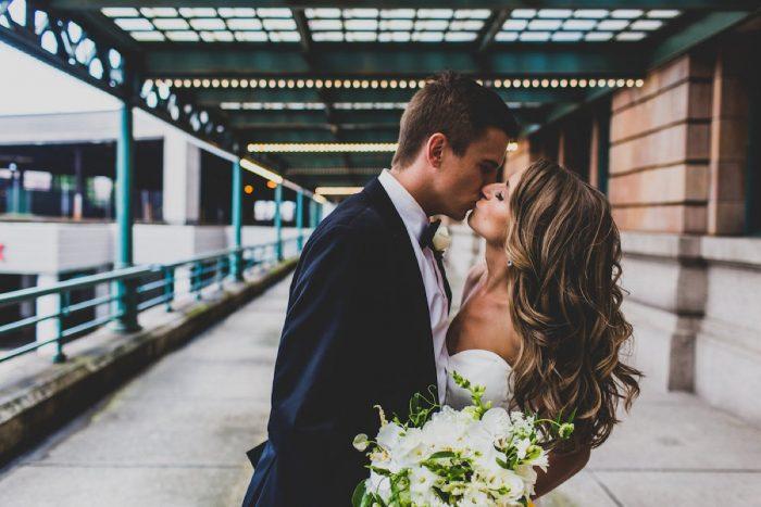 Bride Wedding Hair Down: Modern Chic Wedding from Ryan Zarichnak Photography Featured on Burgh Brides