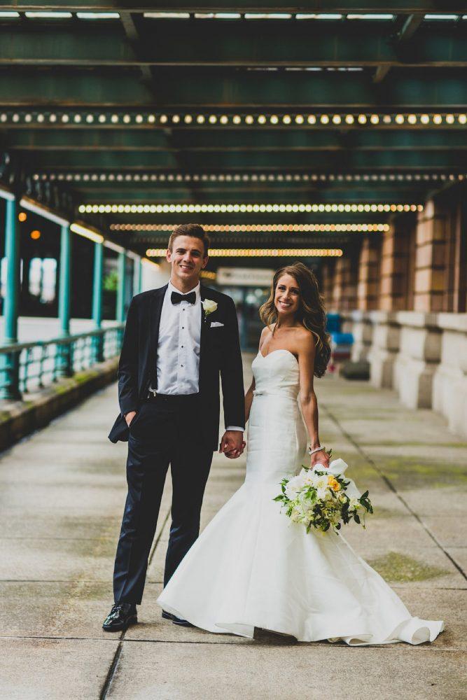 Classic Bride and Groom Wedding Day Attire: Modern Chic Wedding from Ryan Zarichnak Photography Featured on Burgh Brides