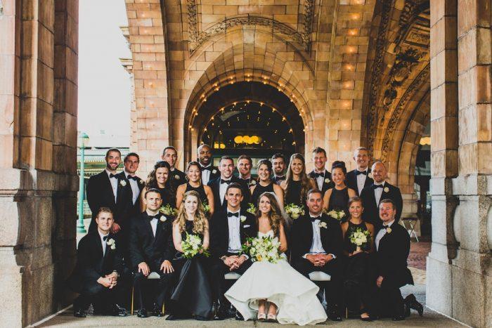 Black and White Bridal Party Attire: Modern Chic Wedding from Ryan Zarichnak Photography Featured on Burgh Brides