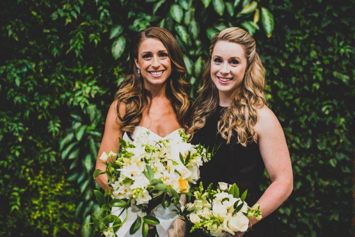 White and Green Wedding Flowers: Modern Chic Wedding from Ryan Zarichnak Photography Featured on Burgh Brides