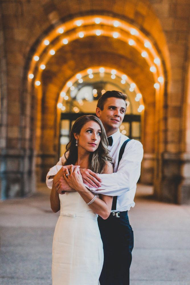 Classic Bride and Groom Black and White Wedding Day Attire: Modern Chic Wedding from Ryan Zarichnak Photography Featured on Burgh Brides