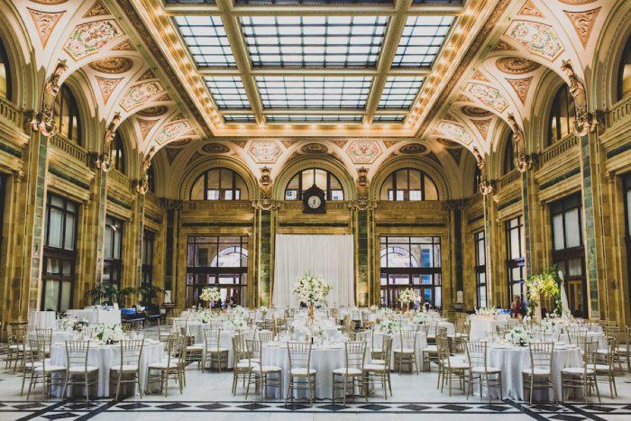 Chic Wedding Set Up: Modern Chic Wedding from Ryan Zarichnak Photography Featured on Burgh Brides