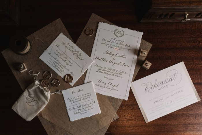 Vintage Inspired Wedding Invitations: Modern Fairy Tale Inspired Wedding from Whitling Photography featured on Burgh Brides