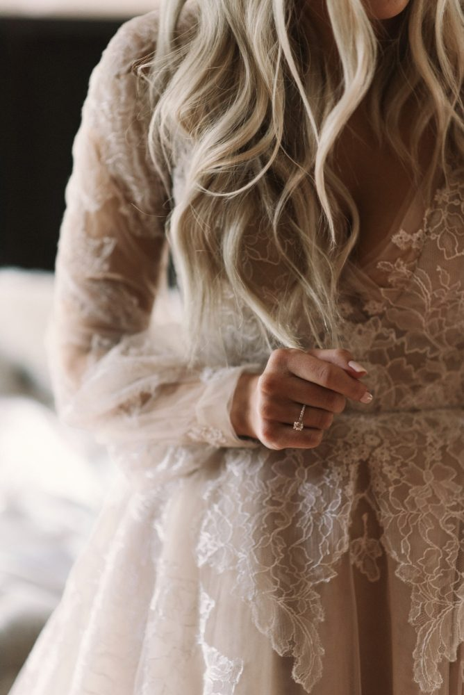 Hayley Paige Wedding Dress: Modern Fairy Tale Inspired Wedding from Whitling Photography featured on Burgh Brides