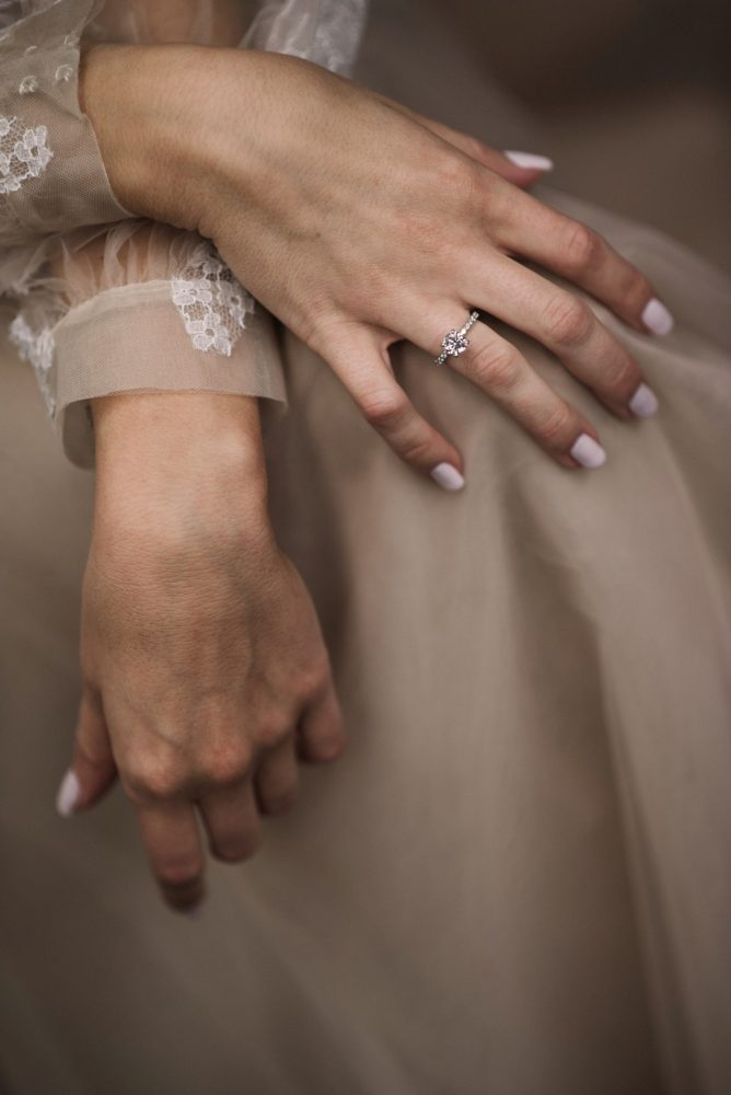 Pink Wedding Nails: Modern Fairy Tale Inspired Wedding from Whitling Photography featured on Burgh Brides