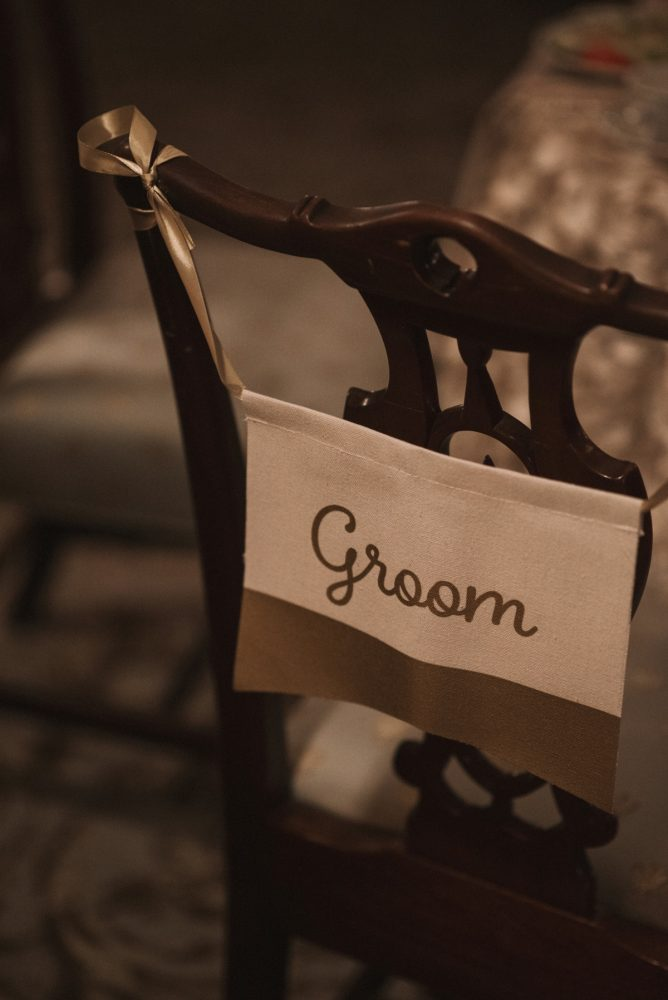 Groom Chair Sign Ideas: Modern Fairy Tale Inspired Wedding from Whitling Photography featured on Burgh Brides