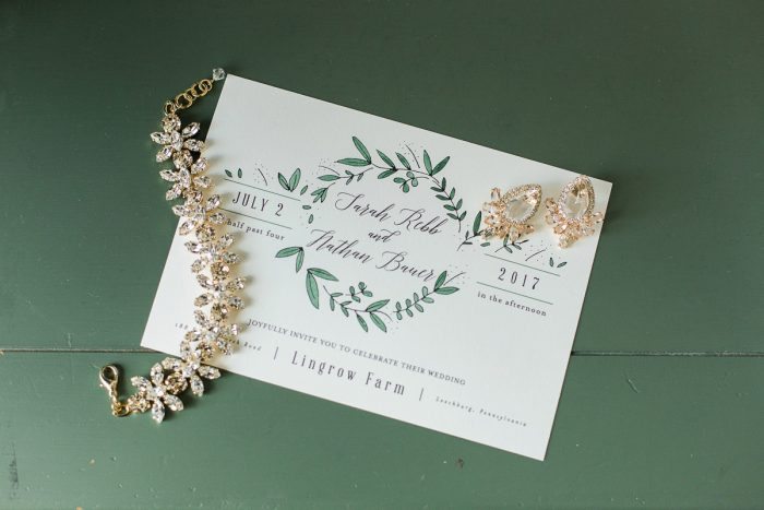 Rose Gold Wedding Accessories: Rustic Blue & Green Wedding from Breanna Elizabeth Photography featured on Burgh Brides