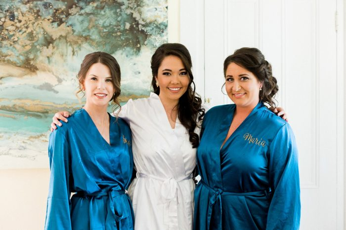 Bridesmaids Robes: Rustic Blue & Green Wedding from Breanna Elizabeth Photography featured on Burgh Brides