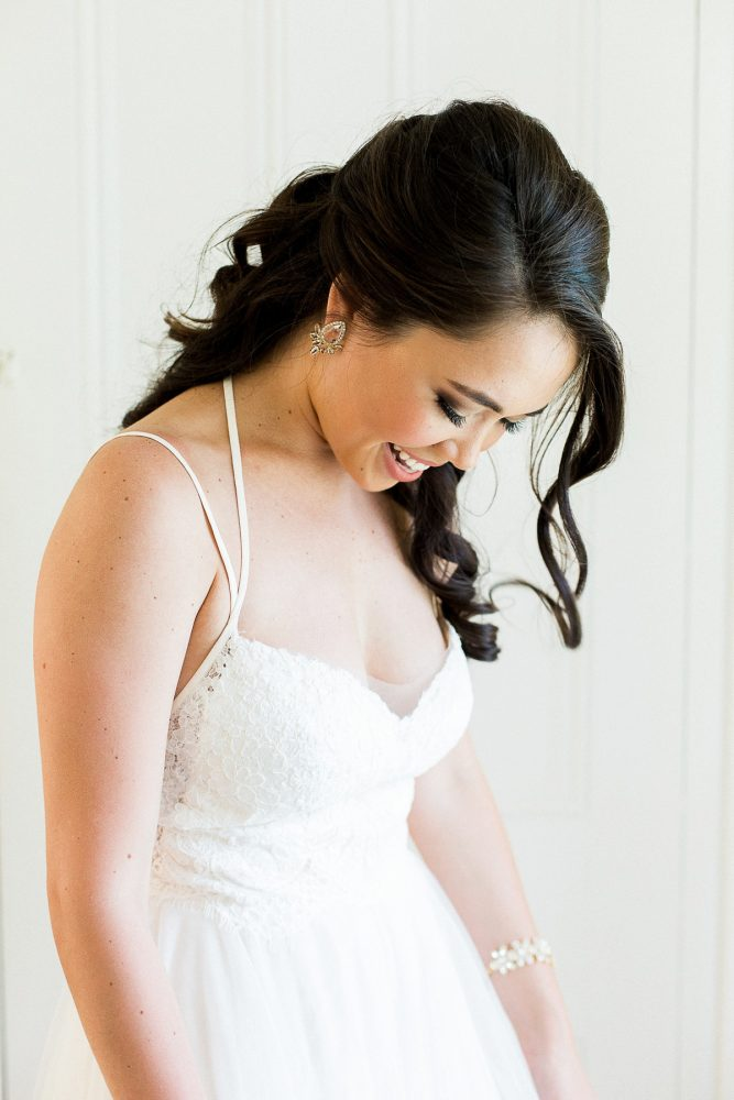 Bridal Hair and Makeup: Rustic Blue & Green Wedding from Breanna Elizabeth Photography featured on Burgh Brides
