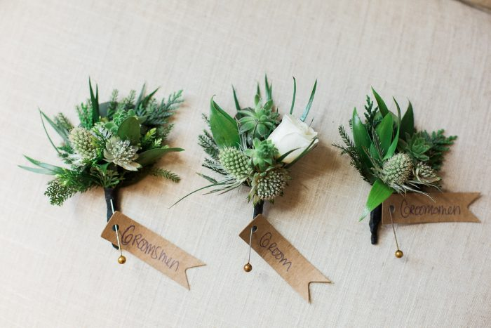 Boutonniere Ideas: Rustic Blue & Green Wedding from Breanna Elizabeth Photography featured on Burgh Brides