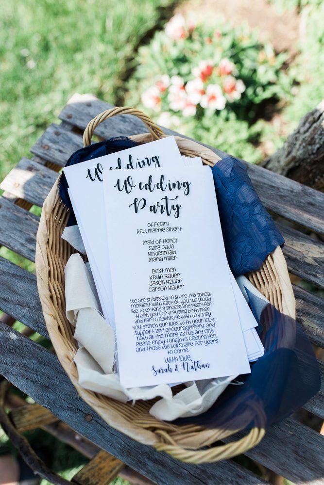 Wedding Program Ideas: Rustic Blue & Green Wedding from Breanna Elizabeth Photography featured on Burgh Brides