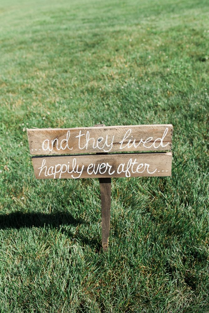 Wedding Ceremony Signs: Rustic Blue & Green Wedding from Breanna Elizabeth Photography featured on Burgh Brides