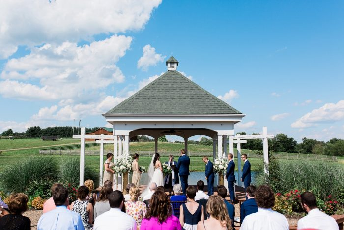 Outdoor Wedding Ceremony Ideas: Rustic Blue & Green Wedding from Breanna Elizabeth Photography featured on Burgh Brides