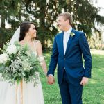 Oversized Bridal Bouquet: Rustic Blue & Green Wedding from Breanna Elizabeth Photography featured on Burgh Brides