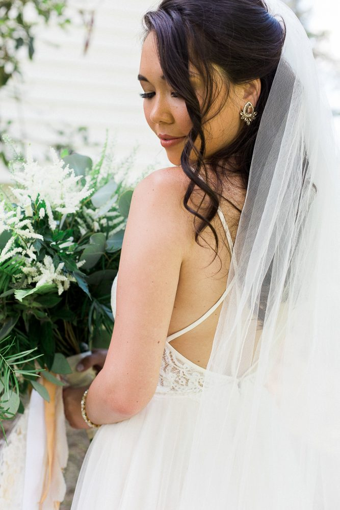Bridal Veil: Rustic Blue & Green Wedding from Breanna Elizabeth Photography featured on Burgh Brides