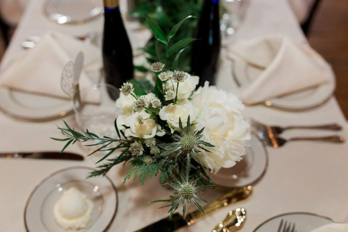 Green and White Wedding Flowers: Rustic Blue & Green Wedding from Breanna Elizabeth Photography featured on Burgh Brides