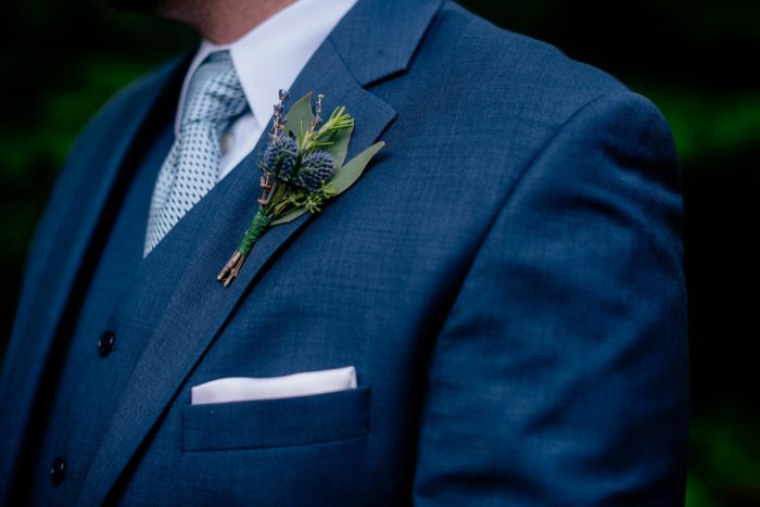 Blue Grooms Wedding Attire: Shades of Blue Wedding at Fernstone Retreat from The Oberports and Olive & Rose Events featured on Burgh Brides