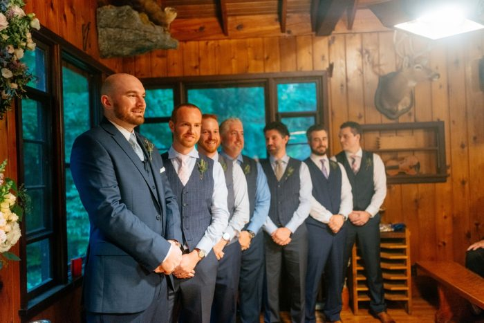 Shades of Blue Wedding at Fernstone Retreat from The Oberports and Olive & Rose Events featured on Burgh Brides