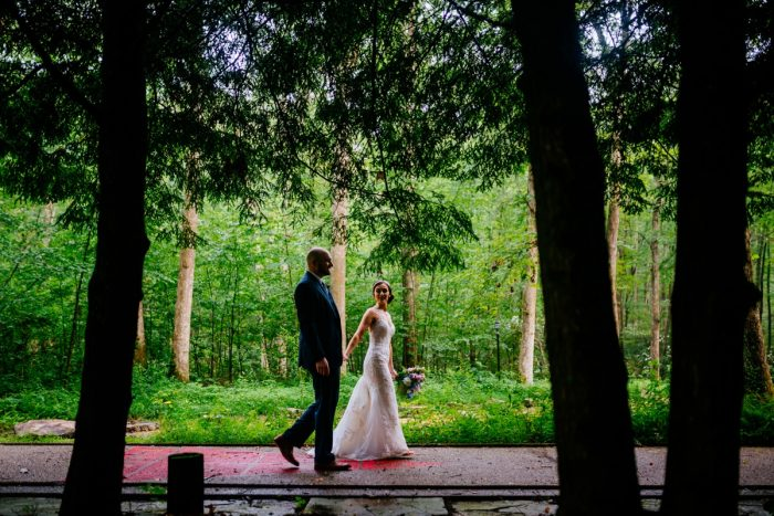 Woodsy Bridal Wedding Day Portraits: Shades of Blue Wedding at Fernstone Retreat from The Oberports and Olive & Rose Events featured on Burgh Brides
