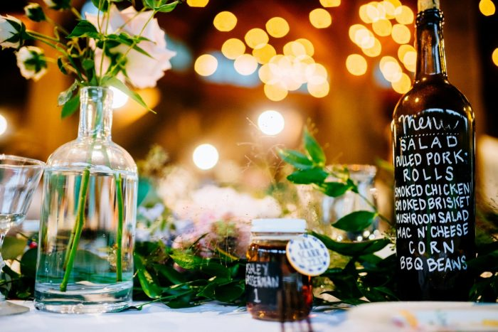 Rustic Casual BBQ Wedding Menu Card: Shades of Blue Wedding at Fernstone Retreat from The Oberports and Olive & Rose Events featured on Burgh Brides