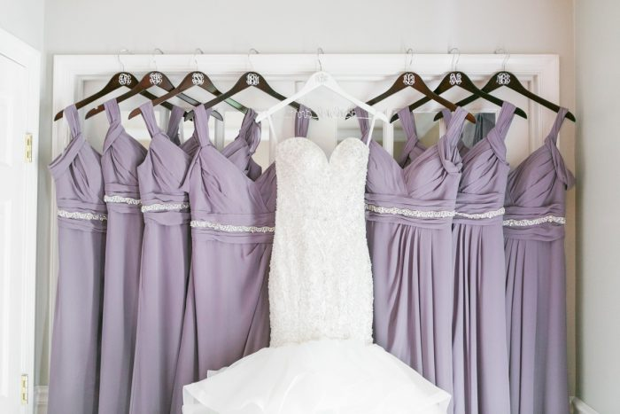 Purple Bridesmaids Dresses: Soft Lavender & Gray Wedding at the Pittsburgh Field Club from Laura Kathleen Photography featured on Burgh Brides