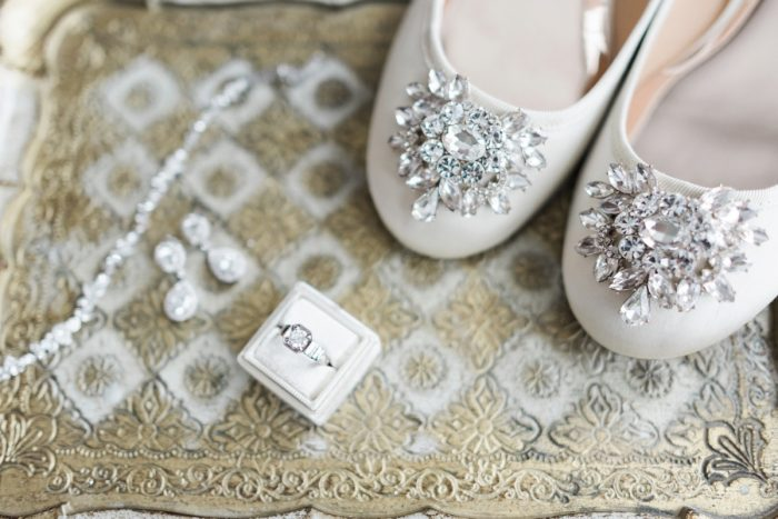 Sparkly Wedding Shoes: Swoon Worthy French Blue Wedding at the Pennsylvanian from Soiree by Souleret and Levana Melamed Photography featured on Burgh Brides