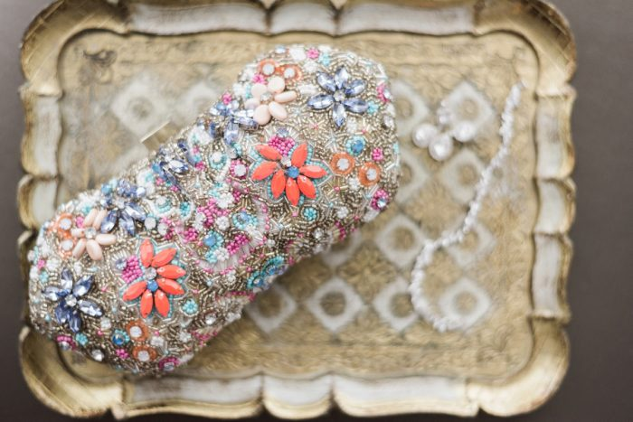 Beaded Bridal Clutch: Swoon Worthy French Blue Wedding at the Pennsylvanian from Soiree by Souleret and Levana Melamed Photography featured on Burgh Brides