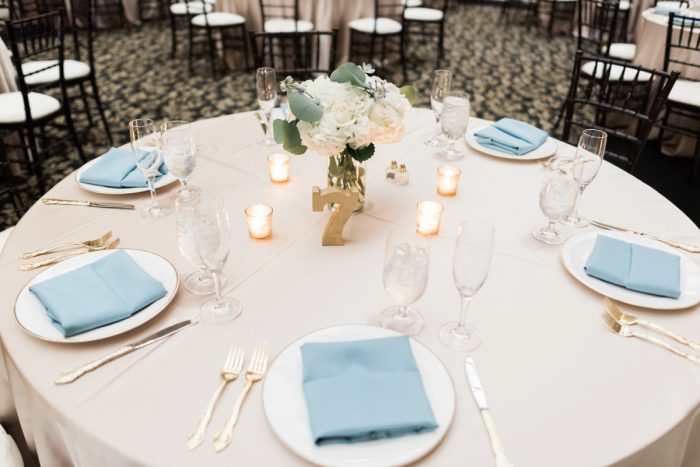 Wedding Tablescape Ideas: Swoon Worthy French Blue Wedding at the Pennsylvanian from Soiree by Souleret and Levana Melamed Photography featured on Burgh Brides
