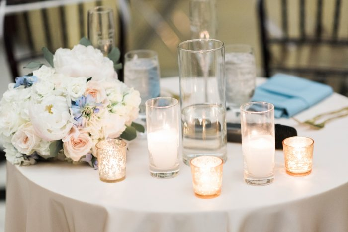 Sweetheart Table Ideas: Swoon Worthy French Blue Wedding at the Pennsylvanian from Soiree by Souleret and Levana Melamed Photography featured on Burgh Brides