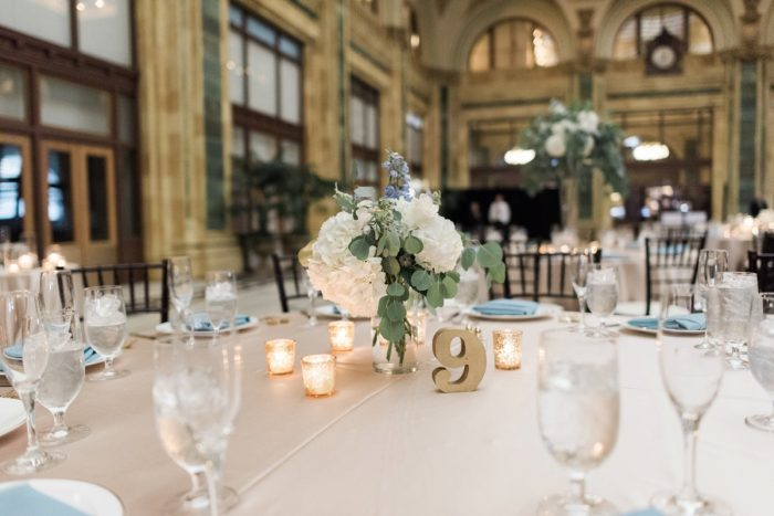 Swoon Worthy French Blue Wedding at the Pennsylvanian from Soiree by Souleret and Levana Melamed Photography featured on Burgh Brides