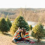 Vintage Holiday Engagement Session from Dawn Derbyshire Photography featured on Burgh Brides