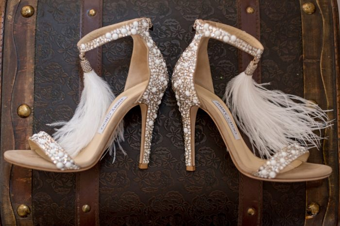 Beaded Jimmy Choo Feather Heels: Wedding Ideas & Details: Best of 2017 from Burgh Brides