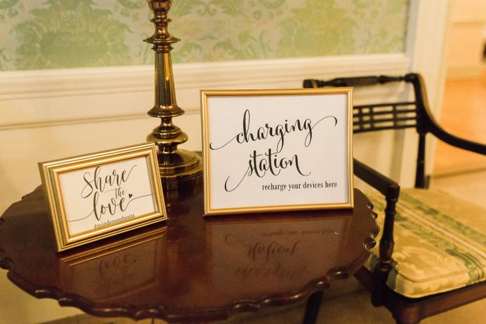 Charging Station at Wedding Reception: Wedding Ideas & Details: Best of 2017 from Burgh Brides