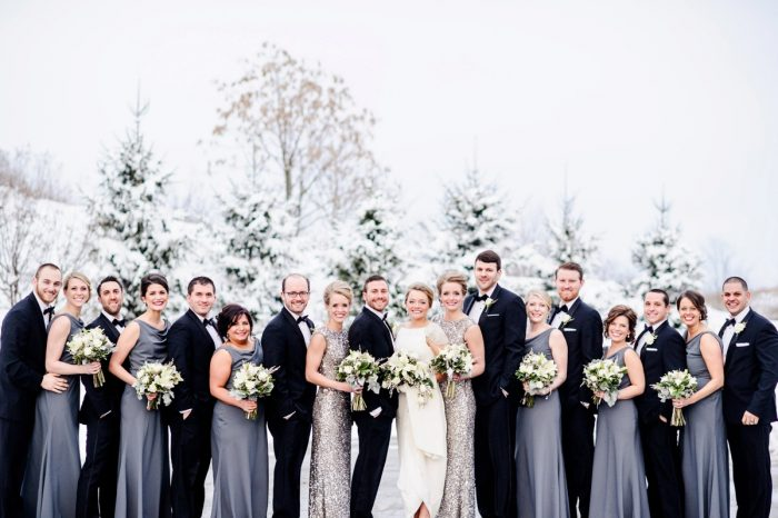 Gray and Pewter Sequin Bridesmaids Dresses: Wedding Ideas & Details: Best of 2017 from Burgh Brides