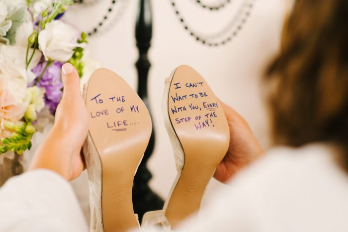 Message on Bottom of Bridal Shoe on Wedding Day: Wedding Ideas & Details: Best of 2017 from Burgh Brides