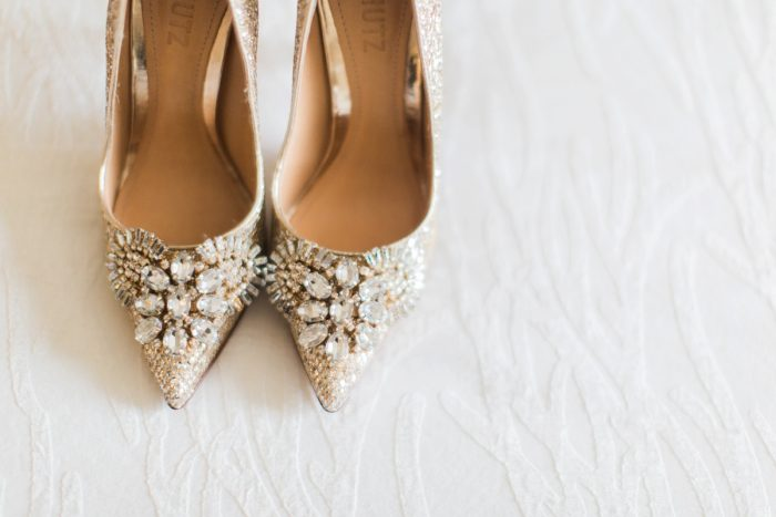 Beaded Pointed Toe Gold Wedding Shoes: Wedding Ideas & Details: Best of 2017 from Burgh Brides