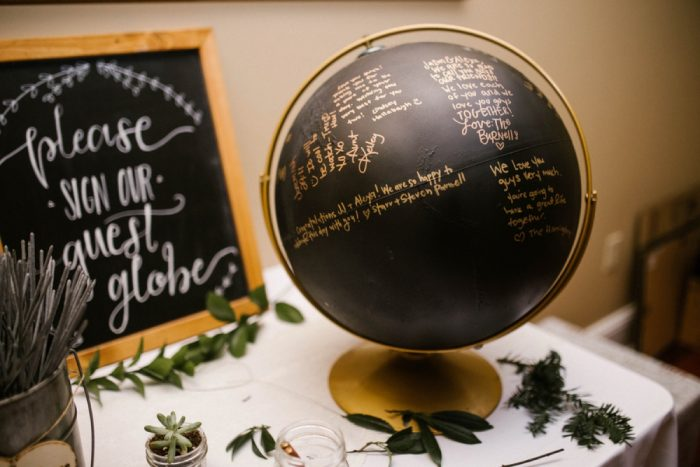 Wedding Day Globe Guest Book Ideas: Wedding Ideas & Details: Best of 2017 from Burgh Brides