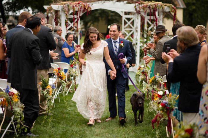 Wedding Day with Dog Flower Girl: Wedding Ideas & Details: Best of 2017 from Burgh Brides