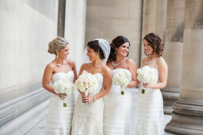 White Bridesmaids Dresses: Wedding Ideas & Details: Best of 2017 from Burgh Brides