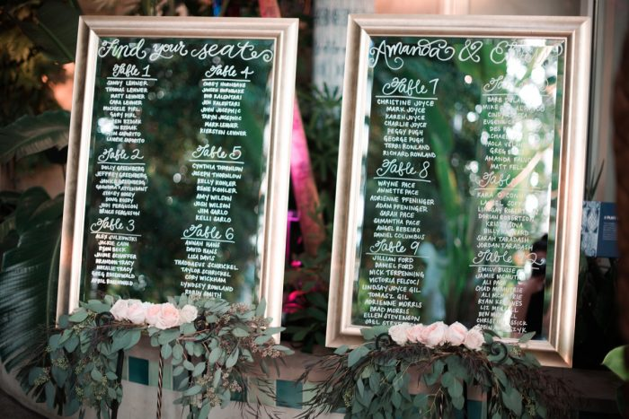 Mirror Wedding Day Seating Chart: Wedding Ideas & Details: Best of 2017 from Burgh Brides