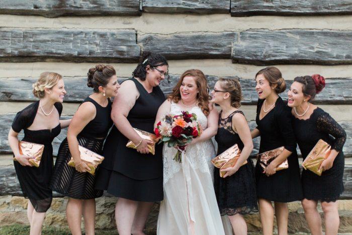 Bridesmaids Golden Clutch: Wedding Ideas & Details: Best of 2017 from Burgh Brides