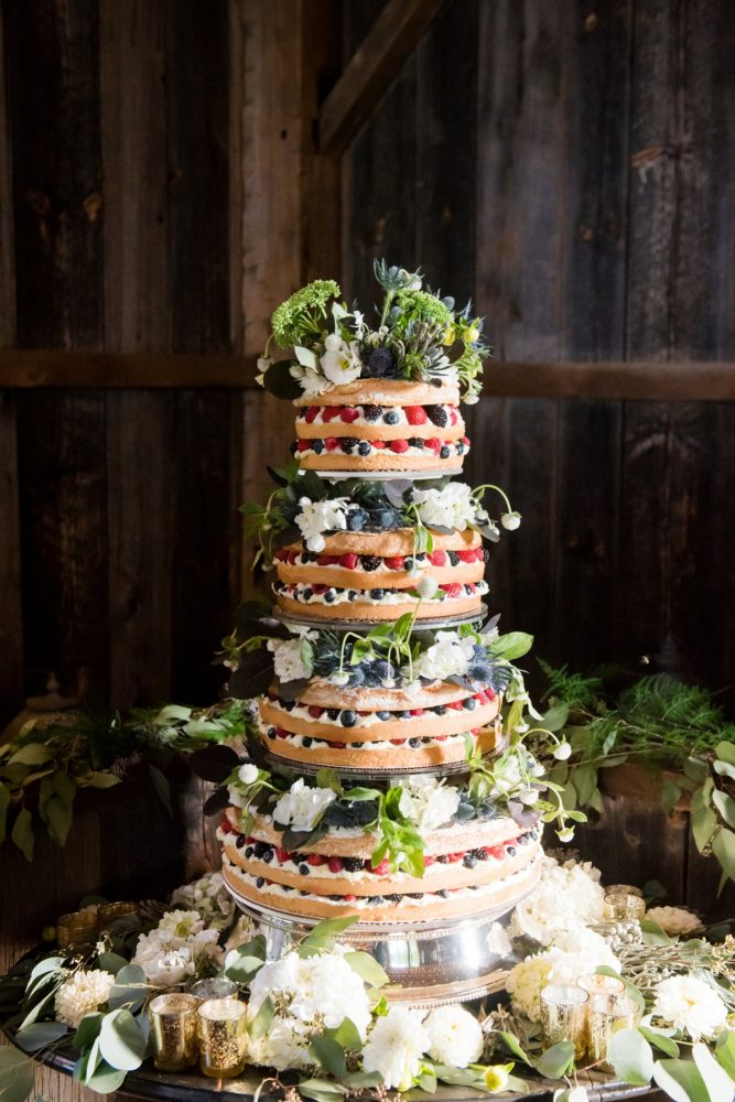 Naked Wedding Cake: Wedding Ideas & Details: Best of 2017 from Burgh Brides
