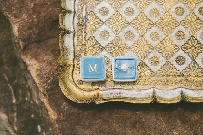 Monogram Velvet Ring Box Wedding Day Bride: Wedding Ideas & Details: Best of 2017 from Burgh Brides